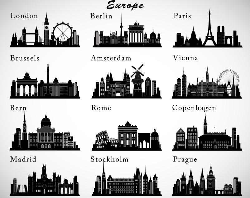 Infografik: Wettbewerb Berlins in Europa. Berlin streckt die Hand nach den Rangplätzen der Großen in Europa aus. Aber sind die Übernachtungszahlen von Paris und London wirklich erreichbar? (#3)