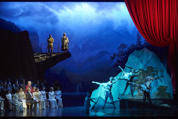 La Damnation de Faust: Florian Boesch (Méphistophélès), Charles Castronovo (Faust), Mitglieder des Staatsopernchors, Tänzer